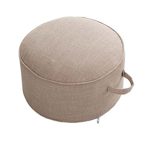 Fancy Pumpkin Yoga Meditation Tatami Floor Pillow Seat Cushion Zafu Foot Stool, Beige
