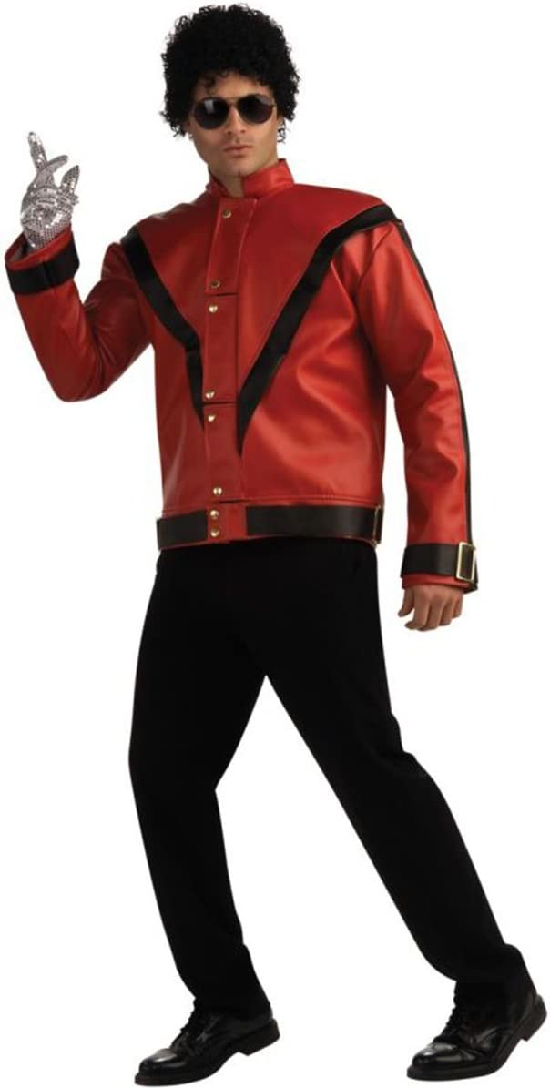 Inexpensive Max 51% OFF Deluxe Michael Jackson Jacket Adult Military Costume Red