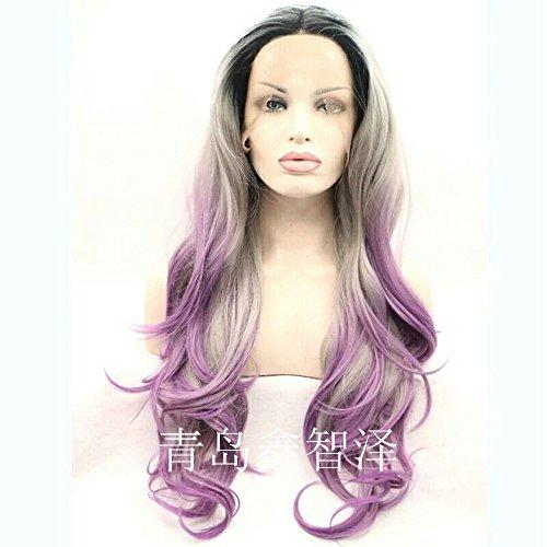 Little cutie Lace Front wig lady head set la moitié part crochet peut être teint perruque perruque haute température.26 pouces