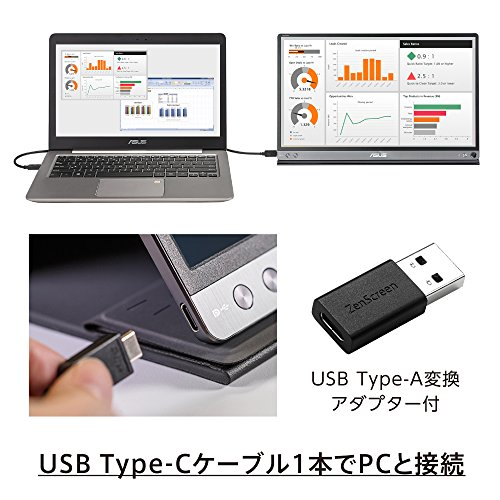 ASUSモバイルモニターモバイルディスプレイMB16ACR15.6インチ/フルHD/IPS/USBType-C/薄さ8mm・軽量780g/ブルーライト軽減/3年保証