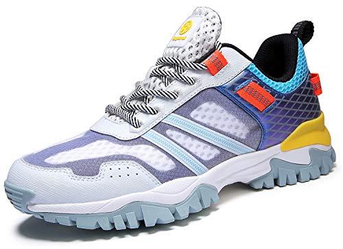 Eagsouni Laufschuhe Herren Damen Traillaufschuhe Sportschuhe Turnschuhe Sneakers Schuhe für Outdoor Fitnessschuhe Joggingschuhe Straßenlaufschuhe, Weiß B, 39 EU