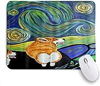 NINEHASA 可愛いマウスパッド コーギースターリースターリーナイトプリント ノンスリップゴムバッキングコンピューターマウスパッドノートブックマウスマット