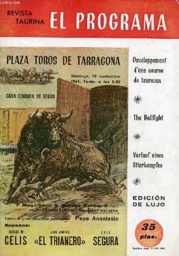 REVISTA TAURINA, EL PROGRAMA, DOMINGO 10 SEPT. 1961