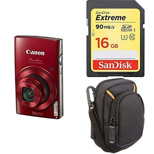 Canon PowerShot ELPH 190 Digital Camera w/ 10x Optical Zoom and Image Stabilization - Wi-Fi & NFC Enabled (Red) + Free Accessory Bundle