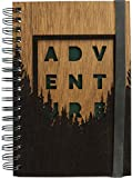 Woodchuck | Wooden Journal - Spiral-Bound Adventure Notebook - Handmade Mahogany - Lined Pages - 87 Pages - Sustainably Sourced and Handcrafted in the USA - Certified Recycled Pages - 8.68