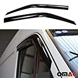 OMAC Front Side Door Window Air Rain Vent Visor Wind Deflector Guard 2 Pcs for RAM Promaster 2014-2020