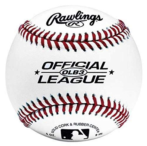 RAWLINGS ROLB3 Baseball Practice Ball - White - 9 inch