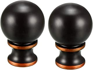 uxcell 2pcs Brown Metal Ball Lamp Finial Decoration Accessories 1-1/2 inch High