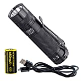 Eagletac D25C Clicky Mark II 800 Lumen Ultra-Compact Everyday Carry Tactical Flashlight with Battery and LumenTac Charging Cable