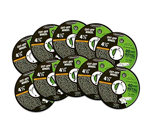 """4-1/2"""" Cut-off Wheels for Metal, for Cutting All Ferrous Metals and Stainless Steel"""
