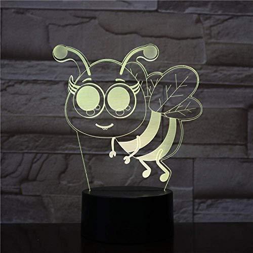 Modelo De Torre De Luz Nocturna 3D Luz Nocturna Led 3D 7 Luz De Humor Que Cambia De Color Lámpara De Escritorio De Ilusión 3D Usb Para Decoración Del Hogar-Touch + Control Remoto