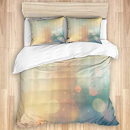 XMTMR-Glass Ensembles de Housse Couette Draps lit,Abstrait sous la mer océan Image inspiré, Ensemble de literie 3 pièces avec 2 taies d'oreiller Super King Size 240x260cm (94x102 Pouce)