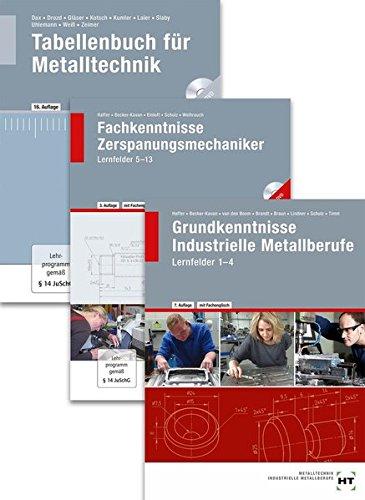 Paketangebot Der Zerspanungsmechaniker: Lernfelder 1-13 + Tabellenbuch