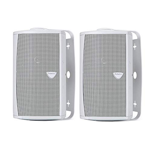 Definitive Technology AW 5500 All-Weather High Definition Sound Outdoor Speaker Loudspeaker (Pair) with Mid/Woofer, Bass Radiator, Tweeter & BDSS Technology for Home Theater Sound Quality in White