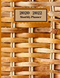2020-2022 Monthly Planner: Wooden Wicker Basket Design Cover 2 Year Planner Appointment Calendar Organizer And Journal Notebook Large Size 8.5 X 11