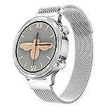 AKL Smart Watch Ladies Men's Cardy Rate Presión Arterial Recordatorio Deporte Multifuncional Impermeable Smart Watch + Caja,A