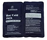 2 x Evanmore reusable hot cold pack packs ice heat gel physio compress 13 x 25cm