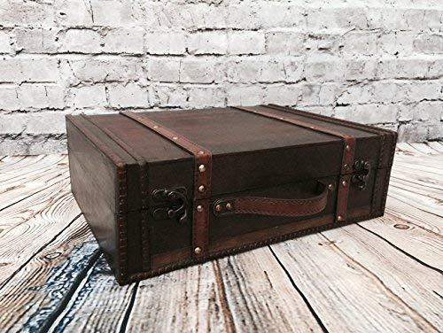 Maleta de madera antigua mirada de almacenamiento de
