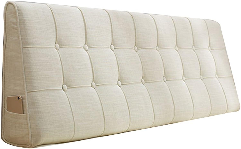 WENZHE Kopfteil Kissen Bett Rückenkissen Rückenlehne Stoff Kissen Softcase Waschbar Einfach zu subern Atmungsaktiv Nicht deformiert, 7 Farben (Farbe   3 , gre   200x50cm)
