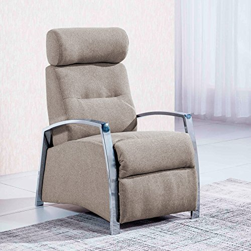 Sedutahome Sillón Relax reclinable Modelo Malcom Tejido Elegance Color Moka