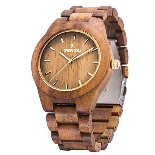 Orologio da uomo in legno, orologi al quarzo vintage fatti a mano,...