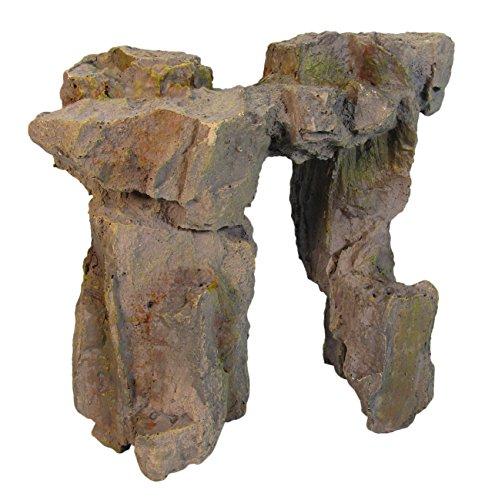 ORBIT OB-5983S Felsentor, Dekostein, Felsen, Höhle, Grotte, Versteck für Fische, Aquariumdekoration, L19 x B11 x H20 cm