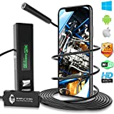 Endoscope Inspection Camera with Light iPhone Android - WiFi Sewer Camera Snake for Pipe Drain- USB Fiber Optic Mechanic Engine Bore Scope Wireless Flexible Cell Phone Endoscopic Lizard Cam Borescope