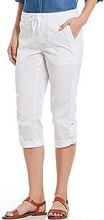 Khakis & Co. Women's Utility POPLIN Capri Color: White Variety Size New
