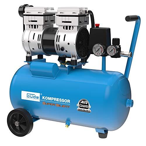 Güde 50136 Kompressor Airpower 150/8/24 Silent (Doppelkolbenaggregat Direktgetrieben, 0,75 kW, 230V, ölfrei, 8 bar)