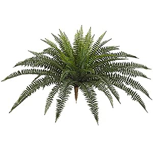 SilksAreForever 30″ UV-Proof Outdoor Artificial Boston Fern Plant -Green (Pack of 2)