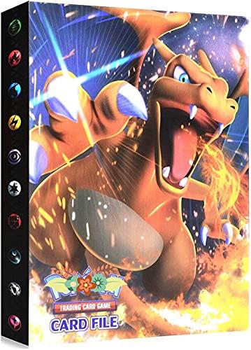 Classeur Compatible Avec Cartes Pokemon, Porte Compatible Avec Cartes Pokemon, Album Titulaire Compatible Avec Cartes Pokemon, 30 pages peut contenir jusqu'à 240 cartes (Charizard)