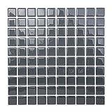 ハンファL/C HanhwaL/C ボダクタイルBodaq Tiles キッチン 洗面所 トイレの模様替えに最適のDIY 壁紙デコレーション (5枚) (スクエアパールブラック( SQP02)) [並行輸入品]