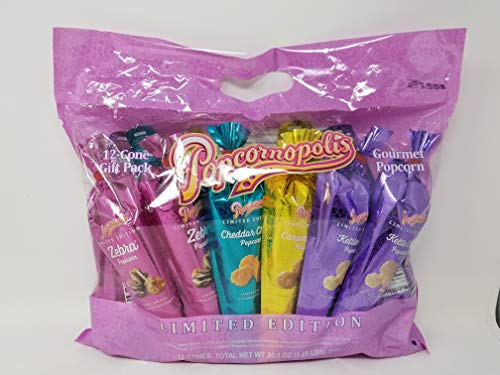 Great Features Of Popcornopolis 12-Cone Snack Pack Spring Metallic 20.1 OZ