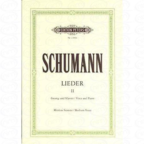 LIEDER 2 - arrangiert für Gesang - Mittlere Stimme (mezzo / Medium Voice) - Klavier [Noten/Sheetmusic] Komponist : SCHUMANN ROBERT