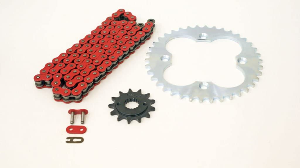 1999-2004 At the price of surprise Fits Honda 400EX TRX400EX Non Chain Fashion Red Silve O-Ring