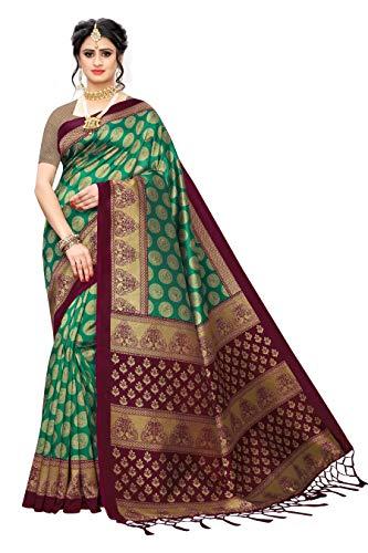 ANNI DESIGNER Women's Banarasi SilkPrinted Saree