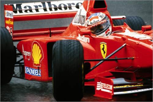 Stampa su Legno 30 x 20 cm: Michael Schumacher in Ferrari F310B, Monte Carlo 1997 di Motorsport Images