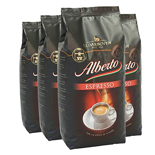 4 x Darboven Alberto Espresso Espressobohnen 1kg