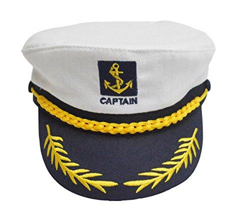 Lukis Kapitänsmütze Kinder Hüte Mütze Baumwolle Sommermütze Weiß