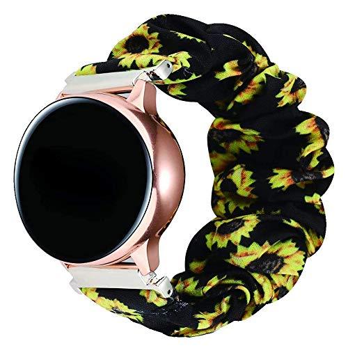 MPWPQ 20 22mm scrunchies Banda de Reloj elástico para Samsung Galaxy Watch 46mm 42mm Active 2 para Huawei Watch GT2 Strap Gear S3 Amazfit BIP Reloj Correa (Band Color : Color 7, Band Width : 22mm)