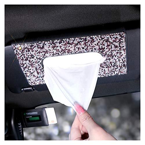 Sun Can Caja de tejido de cristal conjuntos de toalla de coches con visor de tela de tela de tela de coches Auto interior de almacenamiento Decoración de almacenamiento Rhinestone Accesorios para auto