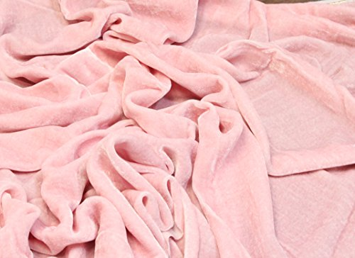 "100% SILK VELVET SOLID FABRIC 45""W CLOTHING,DRAPERY,DRESSES 30 COLOR BY THE YARD (PINK)"