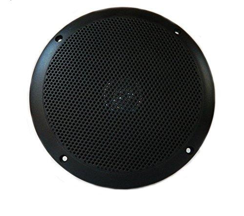"""PQN Enterprises RV610-4BK Waterproof Dual Cone Lightweight RV Marine Speaker, Black, 6"""""""