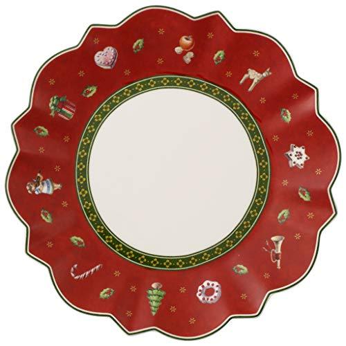 Villeroy & Boch 2 x Brotteller rot Toy's Delight Vorteilsset 2 x Art. Nr. 1485852660 und Gratis 1 Trinitae Körperpflegeprodukt