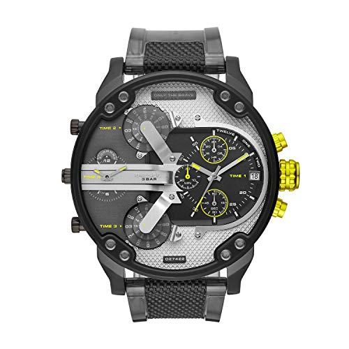 Diesel Herren Analog Quarz Uhr mit Polyurethan Armband DZ7422