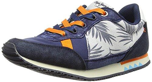 Pepe Jeans Jungen Sydney Marine Low-Top Sneakers, Blau (Blueprint/548), 33 EU