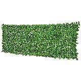 Outsunny Haie Artificiel érable Brise-Vue décoration Rouleau 3L x 1H m Feuillage réaliste Anti-UV Vert