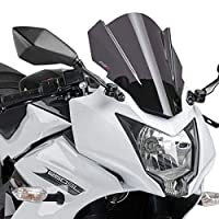 Puig 7630F RACING SCREEN 【DARK SMOKE】 Kawasaki Ninja250SL (15-) プーチ スクリーン カウル オートバイ バイク パーツ