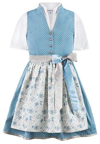 Stockerpoint Mädchen Kinderdirndl Natalja jr. Kleid für besondere Anlässe, Rauchblau, 98-104