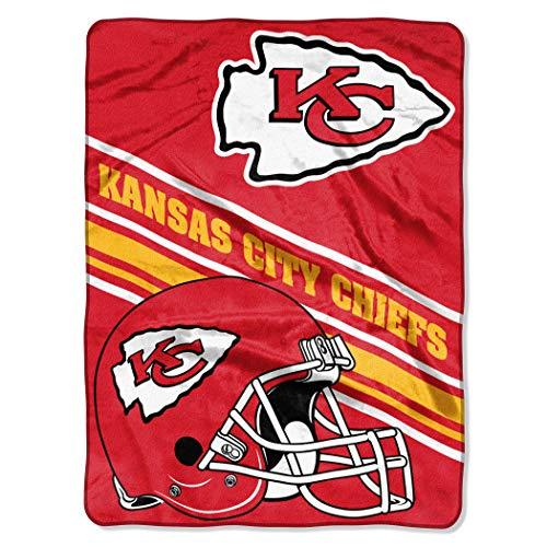 Northwest NFL Kansas City Chiefs 60x80 Raschel Slant DesignBlanket, Team Colors, One Size